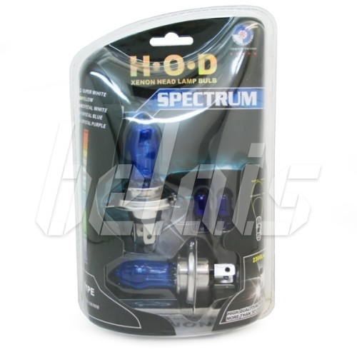 Лампы галогенные «H.O.D» SPECTRUM H3 (55W, SUPER WHITE, лампочки T10 в комплекте)